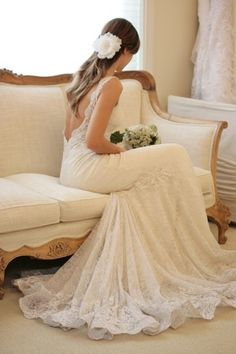 the dreamiest of wedding gowns...