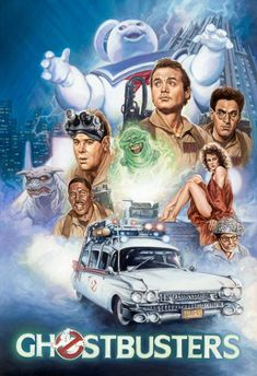 Ghostbusters painting by Comic Artist(s) Leo Leibelman - W. The Real Ghostbusters, Action Movie Poster, Movie Poster Art, Action Movies, Classic Horror Movies, Classic Movies, Monster Horror Movies, Film Mythique, Vintage Posters