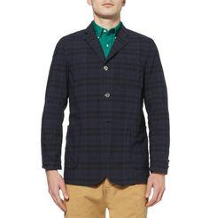 Beams PlusUnstructured Lightweight Check Cotton Blazer