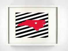 Raleigh North Carolina State Giclée Print  8x10  by PaintedPost, $15.00 #paintedpoststudio - North Carolina State University - Wolfpack- What a great and memorable gift for graduation, sorority, hostess, and best friend gifts! Also perfect for dorm decor! :)