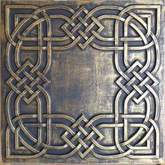 Drop Ceiling Tiles, Faux Tin Ceiling Tiles, Tin Tiles, Ceiling Panels, Ceiling Decor, Pub Decor, Applis Photo, Faux Painting, Celtic Art