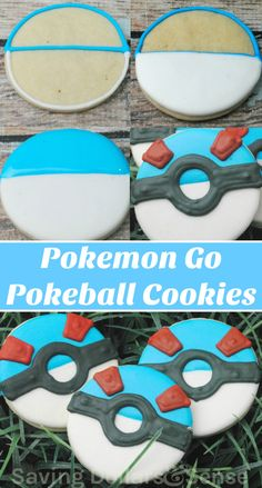 Pokemon Go Pokeball Cookies frosted to look like great balls | Simple sugar cookie recipe perfect for decorating