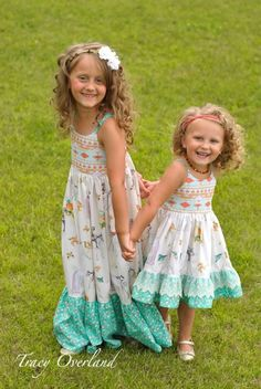 Bella's Dress & Maxi. PDF sewing pattern for toddler girl sizes 2t - 12. - Simple Life Company