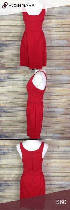 "Prada Sport Red Sleeveless Dress Prada Sport red sleeveless dress. Zip back closure. Elastic at waist and arm straps. Made in Moldova. Size 48 / US Large.  72% Cotton / 22% Nylon / 6% Elastane  Measurements while laid flat: Armpit to armpit: 18.5"" Waist: 15.75"" across Full length: 38"" Prada Dresses Midi"