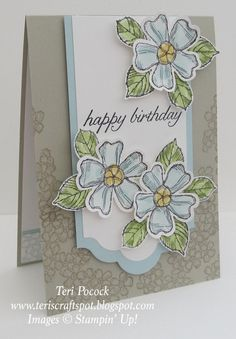 Stampin' Up! UK Demonstrator - Teri Pocock: Birthday Blossoms - Catalogue Inspired