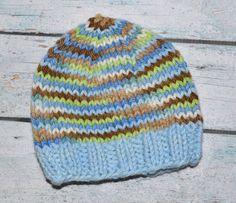 newborn boy hat  in 100% hand dyed merino wool by SweetBabiesinYarn on Etsy, $30.00