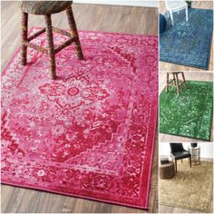 NuLOOM Traditional Vintage Inspired Overdyed Fancy Multi Rug 8 X 10