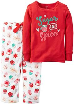 06533b876 Carter's Baby Girls' 2 Pc Fleece 337g157, Print, 12M Toddler Outfits,  Toddler