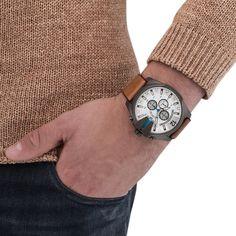 940e729c086 Men s Diesel Analog Mega Chief Brown Watch Chronograph DZ4280  185.00   Diesel  Watches  menswear