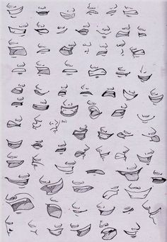 Mouth Drawing Reference and Sketches for Artists Drawing Techniques, Drawing Tips, Drawing Reference, Anatomy Reference, Drawing Ideas, Cartoon Drawings, Art Drawings, Drawing Faces, Drawing Men Face
