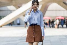 The Best Street Style From Seoul Fashion Week via @WhoWhatWear