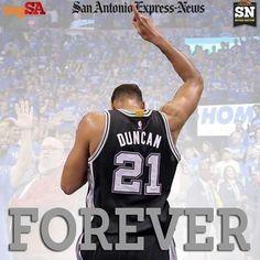 Spurs Tim Duncan. Forever. Thank You Tim Duncan