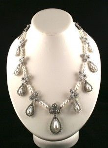 The #Romanov pearl and diamond necklace #Royal #jewels.  Now this is a statement piece!