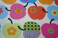 J.Swafing Deko Patchwork Punkte Äpfel Blumen farbenmix Baumwollstoff Wendelin Öko-Tex Standard 100