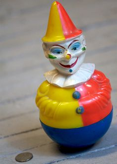 Roly Poly Doll Schoenhut Antique Toy Comic Clown T O Y