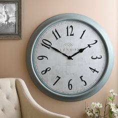 Farmhouse Blue Clock | Kirklands