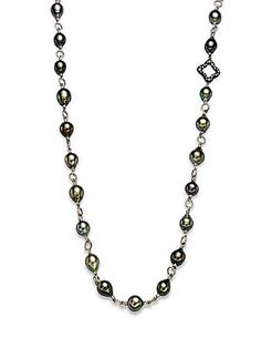 David Yurman Diamond & Tahitian Pearl Necklace