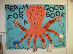 Reading Bulletin Board - For an interactive display, encourage youngsters to add sticky notes or cards to the corresponding leg to tell why he/she did or did not like the book...