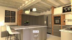 Une rénovation de cuisine modélisée en 3D par Nolwenn, notre architecte d'intérieur de Montpellier
