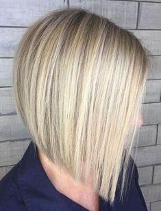 Hottest Blunt Blonde Bob for Straight Hairstyles Ideas #hairdosforshorthair