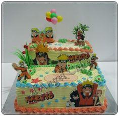 Great two layered Naruto cake