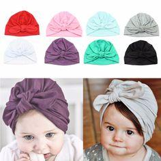c1a6e8310 Newborn Baby Toddler Kids Boy Girl Bowknot Cute Soft Cotton Beanie Hat Warm  Hat  Affiliate
