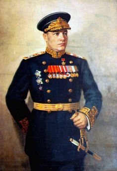Nikolay Kuznetsov. Admiral of the Fleet of the Soviet Union and served as People's Commissar of the Navy during The Second World War. The Russian aircraft carrier Admiral Kuznetsov is named in his honor