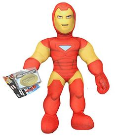 Iron Man Marvel Superhero Squad 12 Inch Posable Plush Toy with Code for Unlockable Online Character ** Check out this great product.(It is Amazon affiliate link) #LoveForMarvel Iron Man, Squad, Plush, Sweatshirt, Classroom, Layering, Manga