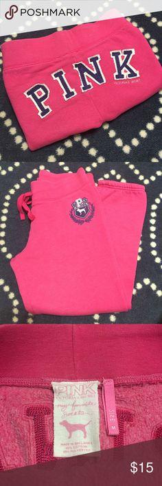 "VS Pink Cropped Sweats VS Pink ""My Favorite Sweats"", size medium. 60% cotton, 40% polyester. Inseam measures 25"" PINK Victoria's Secret Pants"