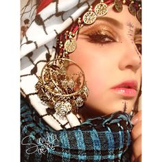 Bedouin - Makeup Artistry by Sandra Saenz Turban, Hijab Fashion, Girl Fashion, Arab Swag, Girl Hijab, Muslim Women, Arabic Beauty, Beauty Makeup, Dress Up
