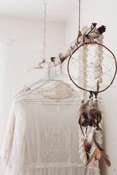 ... shop idea,attrape rêve, bois, wood, white, pure