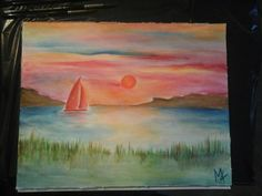 Watercolor Sunset Watercolor Sunset, Painting, Art, Art Background, Painting Art, Kunst, Paintings, Performing Arts, Painted Canvas
