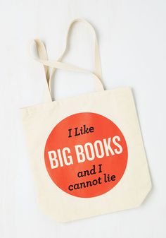 Baby Got Book Tote. Carry the message of your well-read ways everywhere you go with this quirky tote on your arm. #tan #modcloth
