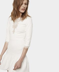 Robe en maille stretch à empiècements en dentelle - Best sellers - Femme - The Kooples