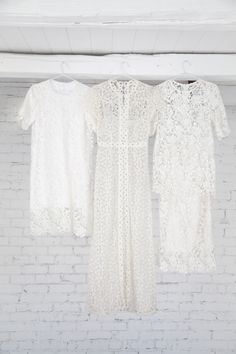 LANE Bridesmaids Dresses of the Week / Mismatched White Lace / Shop these styles on The LANE