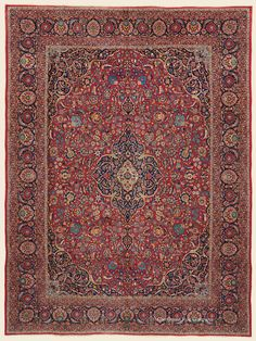 """KASHAN, 10' 9"""" x 14' 6"""" — Circa 1930 —Price: $18,000 Central Persian Antique Rug - Claremont Rug Company"""