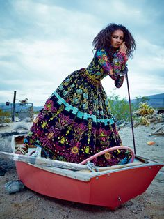 Malaika Firth in Valentino, photographed by Emma Summerton for Vogue Japan July 2014.