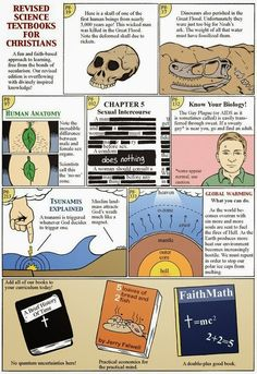 Atheism, Religion, Christianity, God is Imaginary, Faith, Science, Noah's Ark, Flood, Sex, Marriage, Homosexuality, LGBTQIA, Bigotry, Homophobia, Hell. Revised Science Textbooks For Christians.