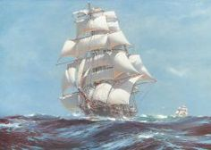 The Ariel tea clipper from Sailing Ships Paintings and Drawings CD-ROM and Book by Carol Belanger Grafton, Dover Publications