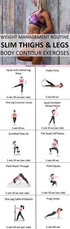 Repin and share if this gave you sexy, toned legs! Read the post for all of the exercises!