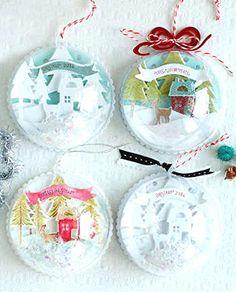 Boules de Noël transparente à acheter pour créer vos propres boules de Noël personnalisées.