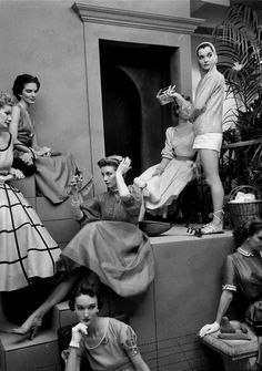 Models photographed by Frances McLaughlin-Gill, 1952.