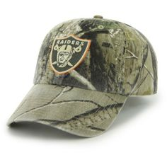Men's '47 Brand Oakland Raiders Real Tree Clean Up Adjustable Slouch Hat Adjustable by '47 Brand. $21.99. Raised NFL® team logo embroidered on front with orange trimTeam name embroidered on slide closure. Adjustable slouch hat. Realtree® camouflage pattern Eyelets for ventilation Officially licensed. 100% cotton twill. Even when you're trying to blend in, you can still represent your squad with a '47 Brand® men's Clean Up slouch hat. Designed with a cool Rea...