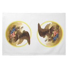 SOLD ! Vintage American Bald Eagle w/Shield Hand Towel shipping to Boulder, CO
