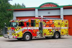 Portraits of Hope:  Aspen, Colorado; Snowmass Wildcat Fire District - Fire Truck.