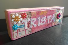 Crafty Name Blocks using Die Cuts With A View