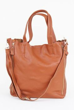Persimmon Leather Tote
