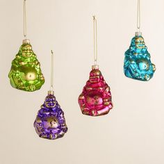 Glass Buddha Head Ornaments, Set of 6 | World Market | Wish List ...