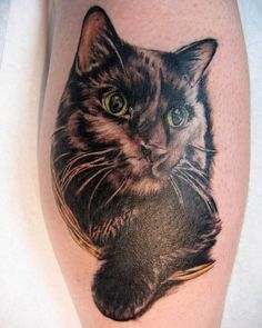 crabby abby by Pookzilla, via Flickr..... a black cat tattoo, that looks ok!