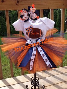 Auburn tutu outfit  or pick your team by TouchdownTutus on Etsy, $51.00